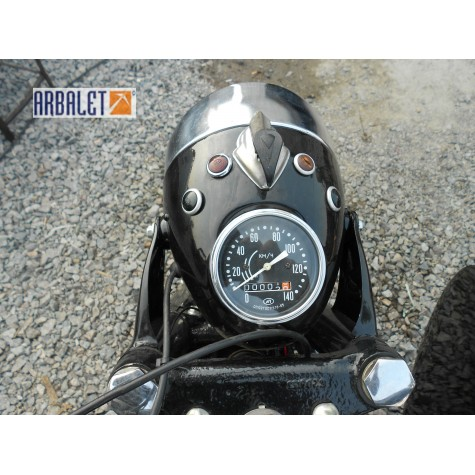 Motorcycle DNEPR K 750 (Black balm ) (completely restored)