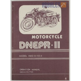Operation manual Dnepr-11 English language