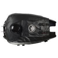 Fuel tank cover, black leatherette (ftcvl-01-b)