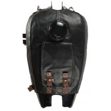 Fuel tank cover, black leather (ftcvl-10-b)