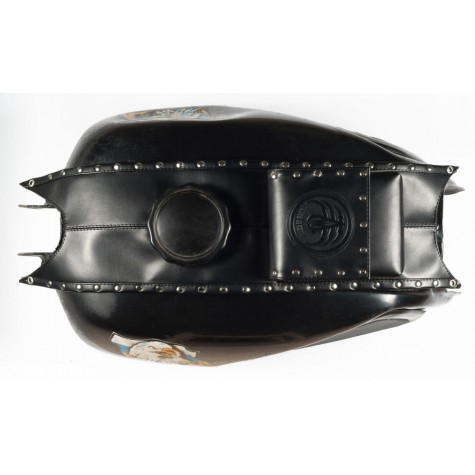Fuel tank cape, leatherette with rivets (ftcpr-04-b)
