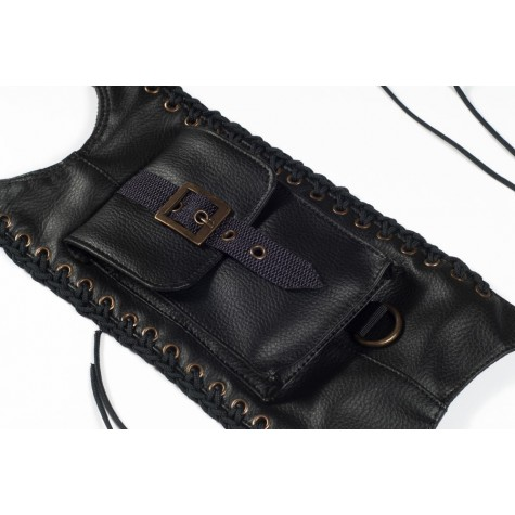 Fuel tank cape, leatherette with grips (ftcpg-03-b)