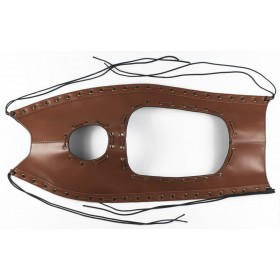 Fuel tank cape, leatherette brown (ftcp-02-br)