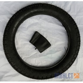 Tyre with innertube (3.75-19)
