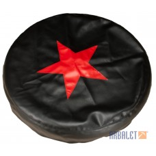 Spare wheel leatherette cover, starred (cvr-2407)