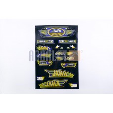 Stickers (set), JAWA (33*22cm, black) (N-356)