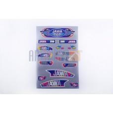 Stickers (set), JAWA (33*22cm gray) (N-357)