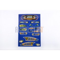 Stickers (set), JAWA (33*22cm, blue) (N-358)