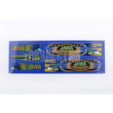Stickers (set), JAWA (48*16cm, blue) (N-374)
