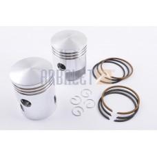Piston JAWA 6v 6p (+ piston rings, locking) (pair) (P-1115)