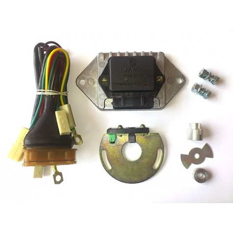 Microprocessor contactless system of ignition JAWA 6V/12V with coil and wires (1146.3734, 406.3705)