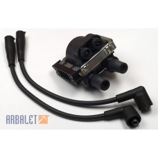 Ignition coil and wires for contactless ignition JAWA 6V/12V (406.3705)